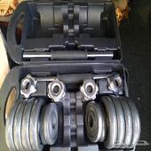 حقيبة اوزان دمبل 15كيلو جديد البيع لاعلي سوم