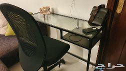 طاولة لاب توب وكرسي مكتب ايكيا