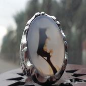 خاتم عقيق يماني مصور