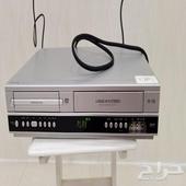 جهاز مشغل VHS مع DVD