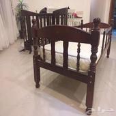 سرير اطفال الخشب اصلي