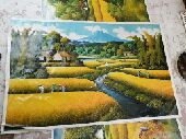 صور رسم على القماش بألوان روعة من نفس الطبيعة