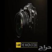 كاميرا نيكون للمحترفين D7200 Wi Fi جديده