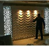 فني تصاميم ديكورات فيبر وخشبيه بجده