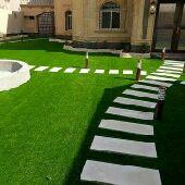 فني حدائق ومصمم شلالات ونوافير تركيب ج  العشب