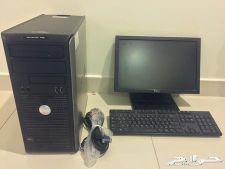 كمبيوتر مكتبي dell - بكامل ملحقاتها