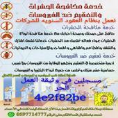 خدمة مكافحة الحشرات والتعقيم ضد الفيروسات