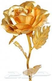 وردة مطليه طلاء ذهبي24K