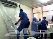شركة تنظيف مكيفات فلل شقق كنب مجالس خزانات -