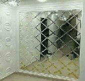ديكور غرف نوم قواطع جدران خشب وزجاج وأبواب