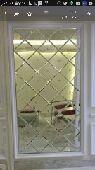 ديكور غرف نوم قواطع جدار ابواب وشاشة خشبية