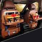 منظم لمقاعد السيارة الخلفية مزود بحامل طعام
