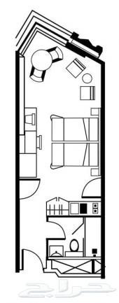 غرفة مطلة على الحرم للبيع