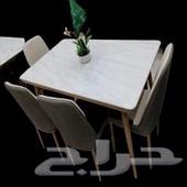 طاولات رخام طعام جديده بالكرتون