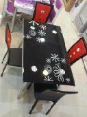 طاولة طعام 4كراسي جديدة بالكرتون