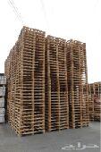 طبليات خشب وبلاستيك مستخدمة ومجددة