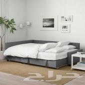 كنبة-سرير زاوية مع تخزين  Skiftebo رمادي غامق  IKEA