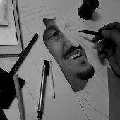 رسام شخصيات..الرسام حنتوش