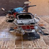 لوحة دراجه رقم 1 مع دباب سبورت