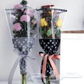 اكياس بلاستيك جاهزة لتغليف الورد الطبيعي
