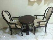 طاولة و 2 كرسي خشب ماليزي و صنع ماليزي