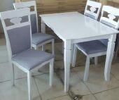 طاولات طعام سفرة  nخشب ماليزي زجاج تركي