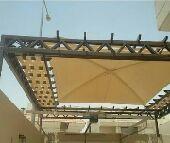 مظلات مضلات برجولات حديد خيام شبوك الرياض