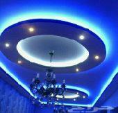 ديكور جبس بورد سقف جدار  0554256366