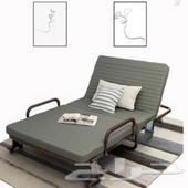 سرير قابل للطي مع مرتبة مناسب لغرفة الضيوف