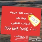 معلم عربي تأسيس ومتوسط وجامعة وقدرات لفظي