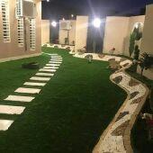 تنسيق حدائق وشلالات ديكورات حجريه واسمنتيه ثي