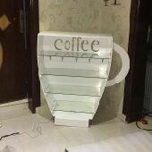 ركن القهوة على شكل كوب