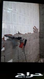 بناء غرف وديوانية تكسيرو تقشير المساح والسيرا
