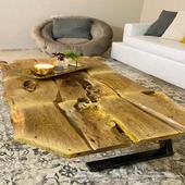 طاوله خشب طبيعي
