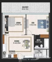 وحده غرفه قابله للتحويل بقسط شهري 7900درهم