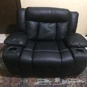 كرسي استرخاء جلد هزاز