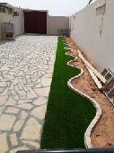تنسيق  الحدائق  وعشب الصناعى وثيل الطبيعي