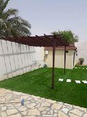 عشب صناعي وعشب طبيعي
