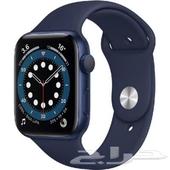 ساعة ابل ( جديدة ) الاصدار السادس الاخير مقاس 44 أزرق