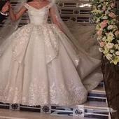 فستان زفاف جديد غير مستخدم