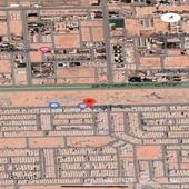 ارض تجاريه للبيع حي الرمال شارع الابراج