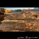 طبقات حجر مختلف المقاسات