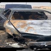 كامري 2002 محترقه نص السياره