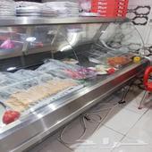 ثلاجة عرض مشويات او سمك او ألبان واجبان