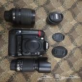 كاميرا نيكون 7000b و3 عدسات نيكون وبتري جريب