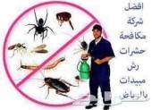 رش مبيد حشرات صراصير نمل ابيض نامس وزغ بورص
