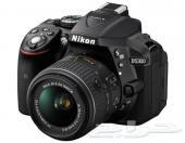 كاميرا نيكون D5300 Nikon شبة  جديد.