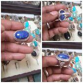 خاتم حجر الازورد صياغة ايرانيه جميله