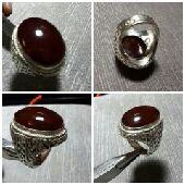 خاتم عقيق يماني كبدي صياغة نجرانيه جميله