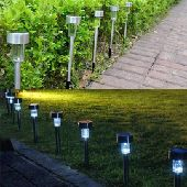 انارة الطاقة الشمسية للممرات والحدائق ليد led